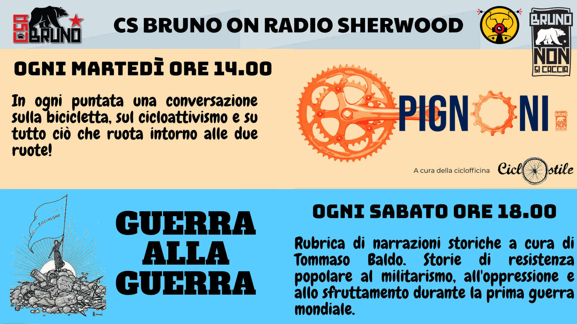 CS Bruno on Radio Sherwood
